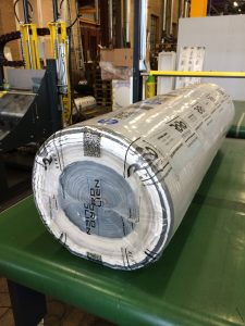 Automated Packaging of Geotextile or Geomembrane Roll