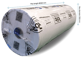 RoRo StretchPack can pack and protect multiple sizes of insulation panels.