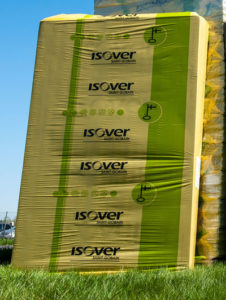 ISOVER product in stretch hood packaging