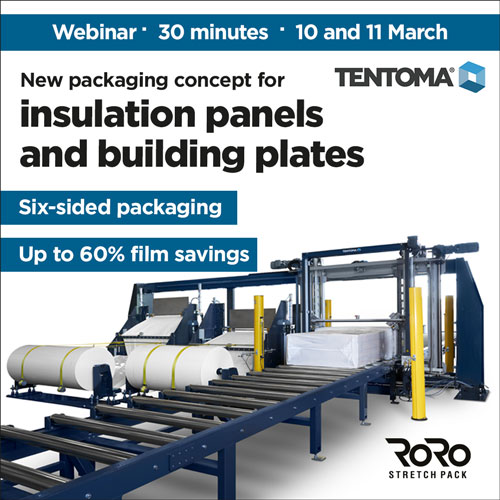 Sign up for our webinar about packaging of insulation panels and building plates